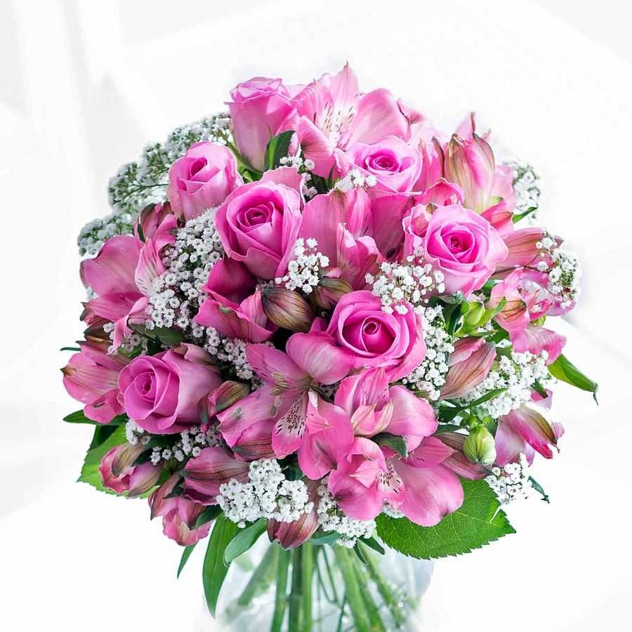 Strawberry Sorbet Bouquet Flowers To Uk Free Delivery Flying