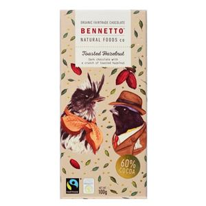 Picture of Organic Toasted Hazelnut Chocolate 100g (GF,DF,Vg)