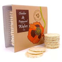 Picture of Cheddar and Poppyseed Wafers (120g)