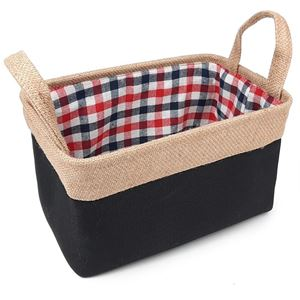 Picture of Gingham Lined Jute Bag