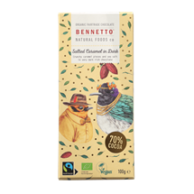 Picture of Bennetto Organic Salted Caramel in Dark Chocolate 100g (GF, DF, V)