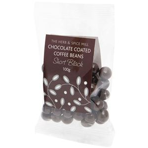 Picture of Dark Chocolate Coated Coffee Beans 100g (GF, DF, V)